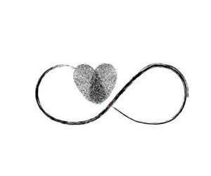infinity, heart, and infinite image