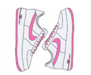nike, pink, and overlay image