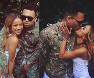 chris brown and karrueche tran image