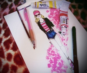 drawing, draw, and fashion image