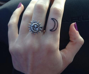 tattoo, moon, and ring image