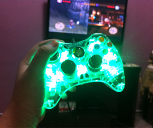 game, glow, and green image