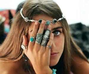girl, rings, and boho image