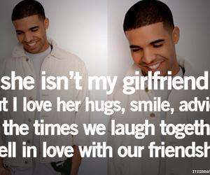 friendship, Drake, and girlfriend image