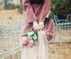 flowers, hijab, and rose image