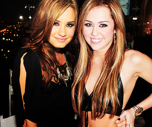 demi lovato, miley cyrus, and miley image
