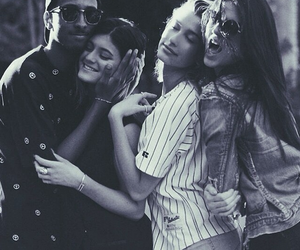kylie jenner, kendall jenner, and hailey baldwin image