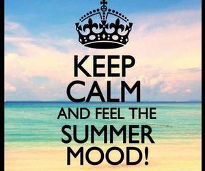 summer, beach, and keep calm image