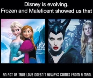 disney, frozen, and maleficent image