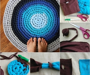 diy, crochet, and rug image