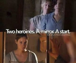 divergent, heroines, and mirror image