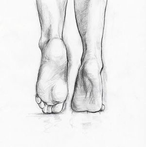 ankles, black and white, and drawing image