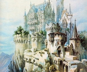castle, art, and illustration image