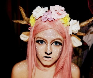 antlers, fawn, and makeup image