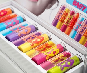 baby lips, girly, and makeup image