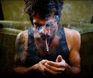 smoke, boy, and tattoo image