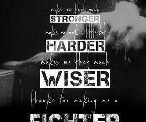 fighter, Lyrics, and strong image
