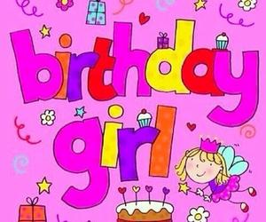 birthday, girl, and pink image