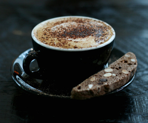 coffe, pie, and capuccino image