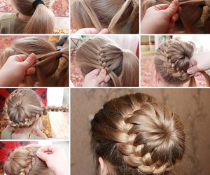 blonde, bun, and Easy image