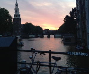fiets, river, and avond image