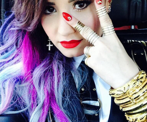 clothes, demi lovato, and hair image