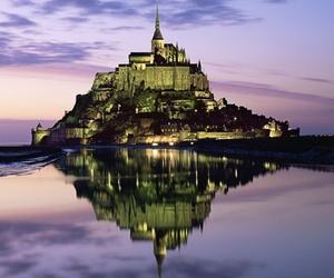 castle, france, and mont saint-michel image