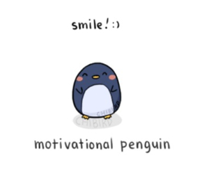 :), motivation, and penguin image