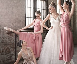 ballerinas, dance, and wedding gown image