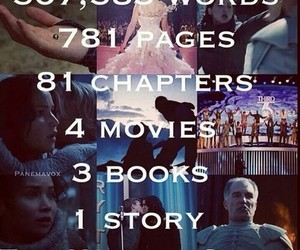 book, hunger games, and catching fire image