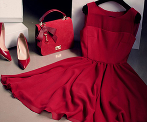 red and dress image