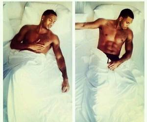 trey songz, bed, and sexy image