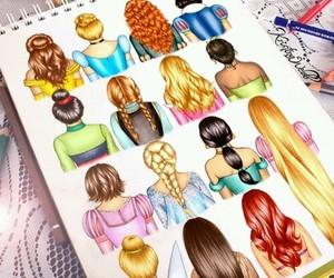 princess, disney, and hair image