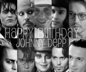 johnny depp, actor, and birthday image