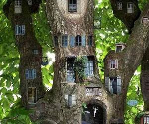 decorate, nature, and tree house image