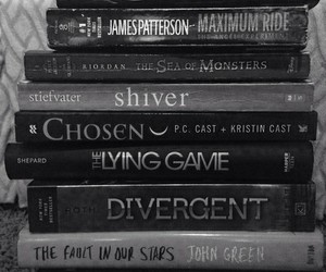 book, divergent, and shiver image