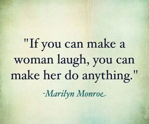 Marilyn Monroe, laugh, and quote image