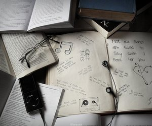 books, headphones, and phrases image