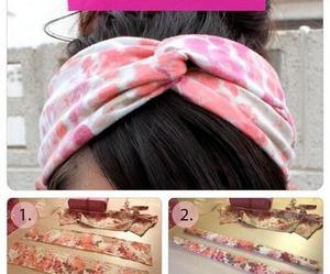 diy, headband, and hair image