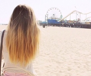 beach, hair, and outfit image