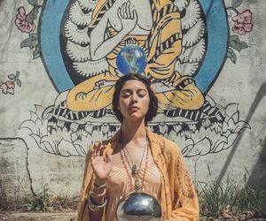Buddha, namaste, and soul image