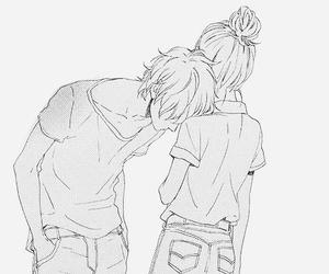 love, couple, and anime image