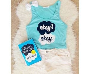 fashion, the fault in our stars, and blue image
