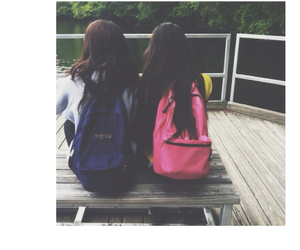 backpack, friendship, and sister image