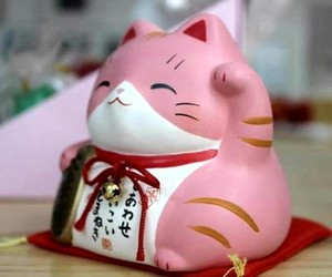 japan, cat, and pink image