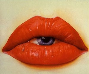 eye, lips, and red image