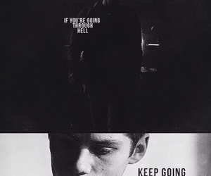 teen wolf, stiles, and keep going image