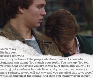 crying, the fault in our stars, and hazel grace image