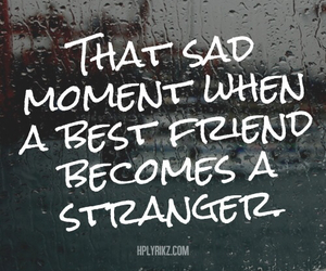 sad, strangers, and best friends image