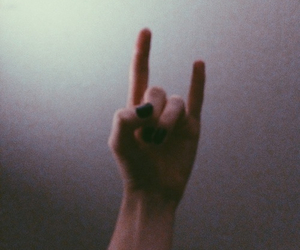 rock, grunge, and hand image